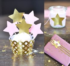 Pink and gold twinkle star party
