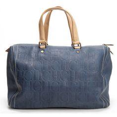 Carolina Herrera dark blue handbag Blue Handbags, New Handbags, My Bags, Purses And Bags, Rock My Style, Lady Dior, Fendi, Shoulder Bag, Boots