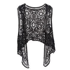 Asymmetric Open Stitch Cardigan Summer Beach Boho Hippie people style Crochet Knit Sheer Embroidery Blouse sleeveless Vest