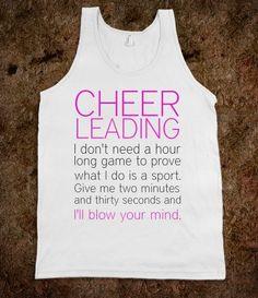 CHEERLEADING SHIRTS..... I miss Cheerleading!!!!!