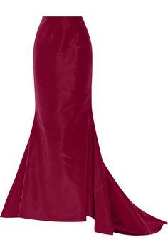 Oscar de la Renta - Silk-faille maxi skirt