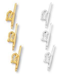 Shackle Dress Stud - In Silver, 14k or 18k #miniatureshackles #silverdressstuds #golddressstuds