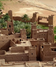 Aït Benhaddou -  a 'fortified city', or ksar, along the former caravan route between the Sahara and Marrakech - Morocco.