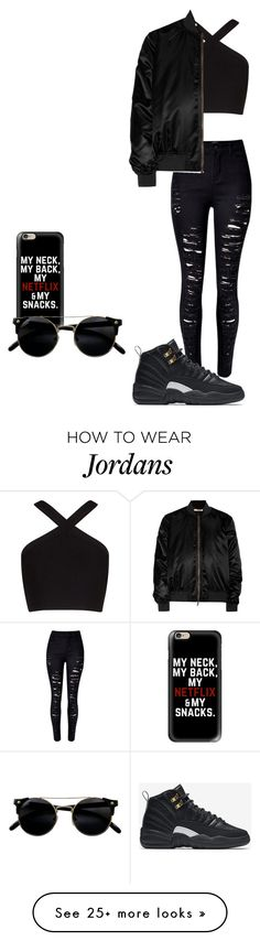 """Good ones go interlude"" by ciara81johnson on Polyvore featuring Casetify, BCBGMAXAZRIA, WithChic, NIKE and Givenchy"