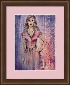 Who Is She? Framed Print By Joan-violet Stretch