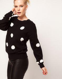 Minkpink 'Pierrot' Polka Dot Sweater