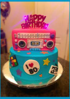 80's Boombox Birthday Cake