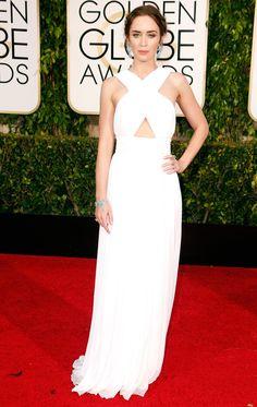 Golden Globes 2015 Emily Blunt in Michael Kors   blog.theknot.com
