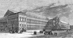 L' Exposition Universelle de 1855 à Paris du 15 mai au 31 octobre 1855: vue d'ensemble du Palais d'une longueur de 250 m