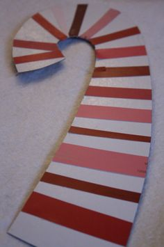 """These paint chip candy canes were completely unplanned, and came about when one little hooligan wanted to """"do some cutting"""" yesterday. Preschool Christmas Crafts, Christmas Crafts For Kids To Make, Simple Christmas, Kids Christmas, Holiday Crafts, Merry Christmas, Kids Crafts, Christmas Decor, Happy Hooligans"""