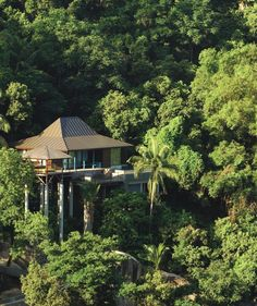 The definition of privacy in paradise: a villa nestled high in the jungle canopy at @Mandy Dewey Seasons Resort Seychelles
