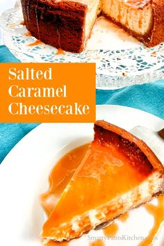 Easy salted caramel cheesecake recipe with no cook caramel sauce! Salted Caramel Cheesecake, Cheesecake Recipes, Dessert Recipes, Easy Recipes For Beginners, Cooking For Beginners, Thanksgiving Recipes, Holiday Recipes, Southern Desserts, Christmas Desserts