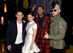 Pin for Later: The 19 Best Pictures From the MTV Movie Awards Jamie Bell, Kate Mara, Michael B. Jordan, and Zac Efron
