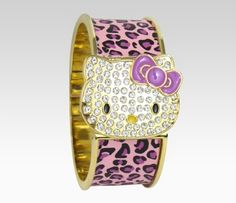Hello Kitty Wristwatch Bracelet: Pink Leopard  Item #30098-201201  BEST SELLER  $38.00