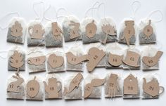 UKKONOOA & ecopapershapes / tea bag advent calendar