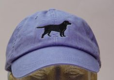 Black Labrador Retriever Dog Hat - One Embroidered Men Women Cap - Price Embroidery Apparel - 24 Color Black Lab Mom Dad Gift Caps Available Hat Embroidery, Embroidery On Clothes, Black Labrador Retriever, Labrador Retrievers, How To Wash Hats, Man And Dog, Periwinkle Blue, Pale Pink, Embroidered Hats