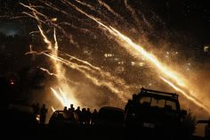 Spectators watch rockets light up the sky during Greek Orthodox Easter celebrations on the island of Chios on April Orthodox Easter, Greek Easter, Chios, Easter Celebration, Image Shows, Greece, Scene, The Incredibles, Island