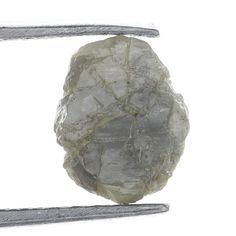 1.00 Ct Natural Loose Diamond Rough Natural Shape Silver Color