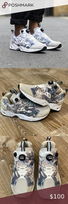 Reebok Classic InstaPump Fury OG Mens Skull Grey Casual Lifestyle Shoes DV6988