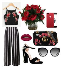 """Untitled #4"" by aleksandrakaraulnyh on Polyvore featuring Boohoo, Gucci, Huda Beauty and Dolce&Gabbana"