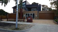 Golden Oak sectional garage doors #garagedoorsmelbourne #rollerdoorsmelbourne