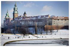 Wawel Castle in winter  Krakow, Poland