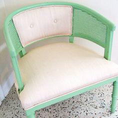 Fabulous mint club chair ETSY