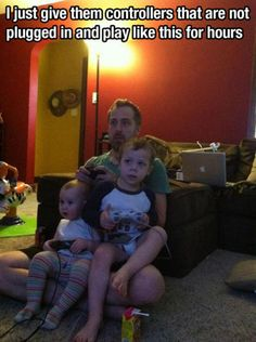"Totally did this with the EOiT and his Daddy. He loved playing his daddy's ""racing game"""