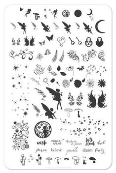 Perfect - Steel Stamping Plate -Pixie Perfect - Steel Stamping Plate - Christian Plate 1 - Hooked on Jesus! - Steel Stamping Plate – Clear Jelly Stamper Detailed Fairy Die Cut Out Silhouette 20 x fairies and a Small Wrist Tattoos, Finger Tattoos, Cute Tattoos, Body Art Tattoos, Small Fairy Tattoos, Tatoos, Pixie Tattoo, Fairy Tattoo Designs, Small Tattoo Designs