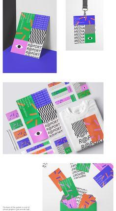Contemporary arts festival - identity concept on Behance Web Design, Logo Design, Graphic Design Branding, Identity Design, Typography Design, Logo Festival, Art Festival, Design Festival, Corporate Design