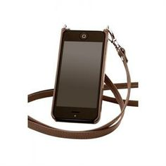 Bandolier Donna Brown and Silver Crossbody Leather iPhone Holder. The iphone case and wallet holds cards as well $79.99