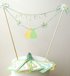Cake Bunting, Wedding Cake Topper, Perfect Pair Cake Topper , Perfect Pear