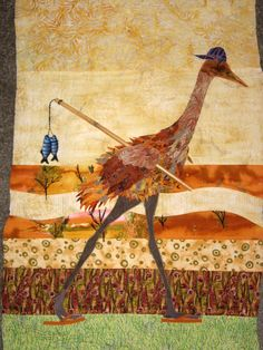 Sandhill crane by Marilyn Foulke 2010-in my personal collection i.e. studio wall.