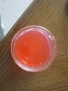 Gel Air Freshener: 2 Envelopes unflavored Gelatin ,1tsp or more of fragrance, 1/2 cup hot water, 1/2 cup ice cold water, Food coloring (your pref.)  and jelly jar.  Full DIY on www.sewstylishboutique.blogspot.com