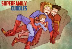 SuperFamily Cuddle Time by Arkham-Insanity.deviantart.com on @deviantART
