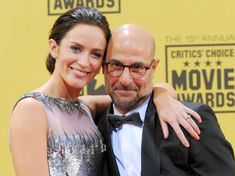 "Emily Blunt is Stanley Tucci's sister-in-law, which means John Krasinski is Tucci's brother-in-law~ Emily Blunt inadvertently played matchmaker when her ""Devil Wears Prada"" co-star Stanley Tucci met her sister, Felicity, at Emily Blunt and John Krasinski's wedding in 2010.Tucci married Felicity Blunt two years later, and the happy couple have two children together (just like Emily Blunt and Krasinski)."