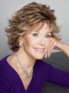 Jane Fonda Short Wavy Layered Synthetic Hair Capless Wig 8 Inches: Wigsbuy.com