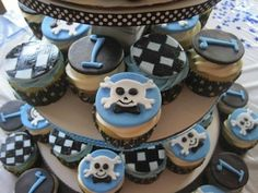 Rock Star cupcakes that will go great with your rock star theme.    For more rock star baby shower ideas go to:  http://www.modern-baby-shower-ideas.com/rock-star-baby-shower.html