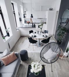 Living room furniture for your home small living room design, small living Apartment Interior, Apartment Living, Interior Design Living Room, Living Room Designs, Apartment Ideas, Apartment Plants, Apartment Kitchen, Small Living Rooms, Living Room Kitchen