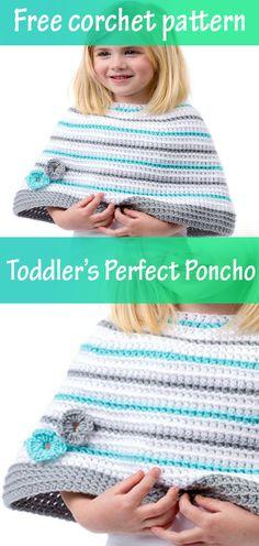 Crochet kids poncho free pattern Ideas for 2019 Crochet Baby Blanket Beginner, Crochet Baby Jacket, Crochet Baby Cocoon, Crochet Toddler, Crochet Coat, Crochet For Kids, Easy Crochet, Free Crochet, Irish Crochet