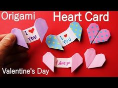 Origami Heart, Oragami, Explosion Box, Message Card, Heart Cards, Diy Box, Valentines Day, Projects To Try, Paper Crafts