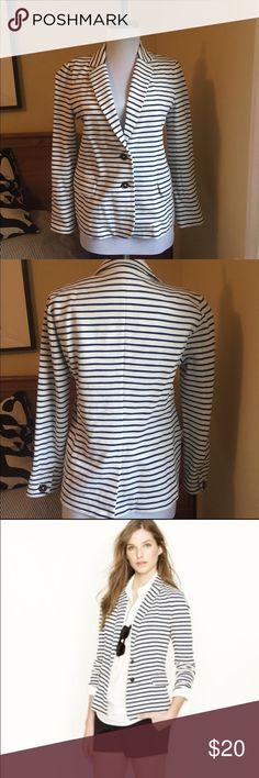 J. Crew Maritime Stripe Jacket - Small J. Crew Maritime Stripe Blazer. 93% cotton/7% spandex. Great for spring/summer. Dress up or down! J. Crew Jackets & Coats Blazers