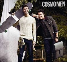 Daniel Henney hangs out with his doppelganger Royal Pirates' James for 'Cosmopolitan' | allkpop