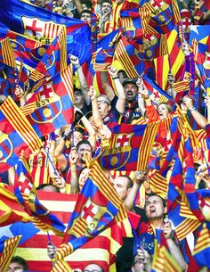 FC Barcelona supporters during the UEFA Champions League final match between Barcelona and Juventus on June 6, 2015 at the Olympic stadium in Berlin, Germany.