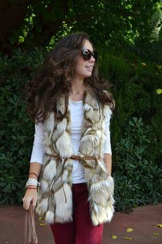 Chaleco de pelo sintético beige II || Faux Fur Vest Outfit || Street Style || MartaBarcelonaStyle's Blog