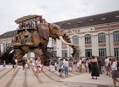NANTES, FRANCE -- Pervaded by a spirit of creativity, Nantes has dreamed up a range of resourceful ideas—from mechanical elephants and art walks to a 15th-century castle turned history museum and a warehouse converted into a hammam. http://on.natgeo.com/1eauKbq