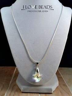 Swarovski crystal cross necklace  sterling by ILoveBeads247 $17!! BUY FOLLOW SHARE