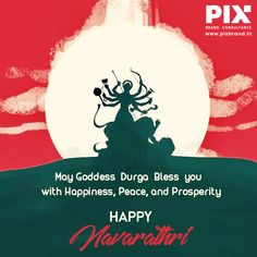 May Goddess Durga Bless you with Happiness, Peace, and Prosperity Festivals Of India, Happy Navratri, Durga Goddess, Wall Tiles, Web Development, Blessed, Advertising, Happiness, Branding