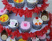 Farm Animal Cupcake Topper Variety One Dozen