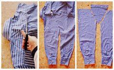 Hoy me ha dado en mis dos blogs por la costura.  Las camisas de algodón por donde más se gastan es por el cuello y por los puños. ...